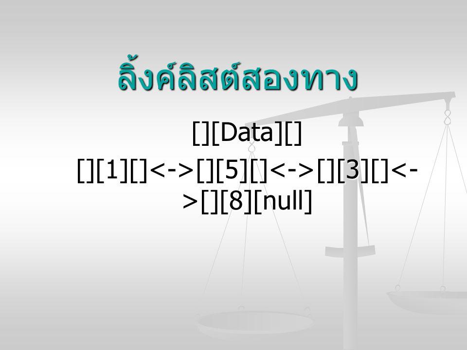 [][Data][] [][1][]<->[][5][]<->[][3][]<->[][8][null]